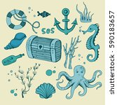 Cute Sea Objects Collection....