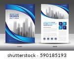 brochure template layout  blue... | Shutterstock .eps vector #590185193