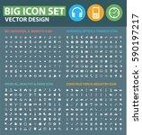 big icon set clean vector | Shutterstock .eps vector #590197217