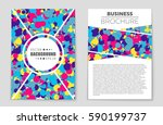 abstract vector layout...   Shutterstock .eps vector #590199737