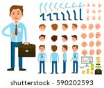 businessman character creation... | Shutterstock .eps vector #590202593