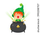 vector illustration of st.... | Shutterstock .eps vector #590208707