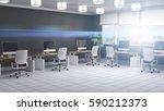 office interior. 3d illustration | Shutterstock . vector #590212373