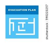 evacuation plan | Shutterstock .eps vector #590223257