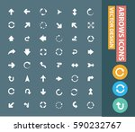 arrow icon set clean vector | Shutterstock .eps vector #590232767