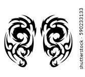 tribal designs. tribal tattoos. ... | Shutterstock .eps vector #590233133