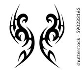 tattoo tribal vector designs.... | Shutterstock .eps vector #590233163
