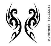 tribal designs. tribal tattoos. ... | Shutterstock .eps vector #590233163