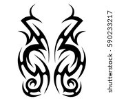 tattoo tribal vector designs... | Shutterstock .eps vector #590233217