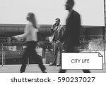 City Life Urban Scene Rush Hou...