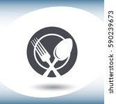 spoon and fork icon.