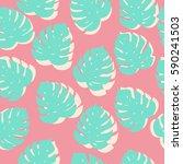 vector seamless tropical...   Shutterstock .eps vector #590241503