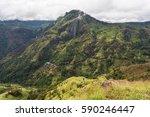 landscape with green fields in... | Shutterstock . vector #590246447