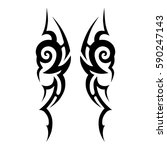 tattoo tribal vector designs... | Shutterstock .eps vector #590247143