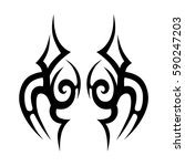 tattoo tribal vector designs.... | Shutterstock .eps vector #590247203