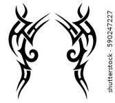tribal tattoo art designs.... | Shutterstock .eps vector #590247227