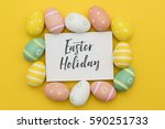seasonal easter message with... | Shutterstock . vector #590251733