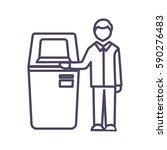 self service terminal icon... | Shutterstock .eps vector #590276483