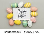 seasonal easter message with... | Shutterstock . vector #590276723