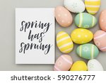 seasonal easter message with... | Shutterstock . vector #590276777