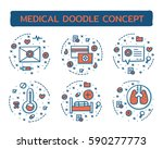 doodle vector illustrations of... | Shutterstock .eps vector #590277773