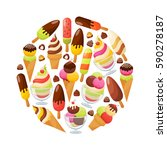 ice cream flat icons set. ice... | Shutterstock .eps vector #590278187