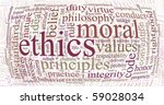 word or tag cloud of ethics... | Shutterstock . vector #59028034
