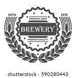 beer pub vintage isolated label ... | Shutterstock .eps vector #590280443