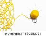 Yellow Ball Of Wool With Pen...