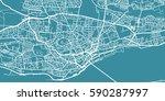 detailed vector map of dundee ... | Shutterstock .eps vector #590287997