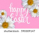happy easter spring holiday...   Shutterstock .eps vector #590309147