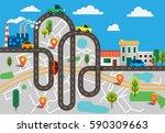 colorful vector illustration... | Shutterstock .eps vector #590309663