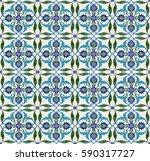 mosaic tile pattern  islamic... | Shutterstock . vector #590317727