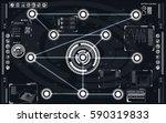 elements for hud interface   Shutterstock .eps vector #590319833