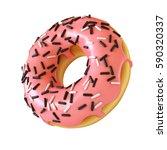 glazed donut or doughnut with... | Shutterstock . vector #590320337