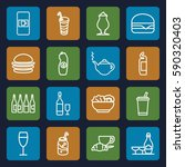 drink icons set. set of 16... | Shutterstock .eps vector #590320403