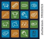 beef icons set. set of 16 beef...   Shutterstock .eps vector #590320523