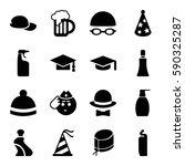 Cap Icons Set. Set Of 16 Cap...
