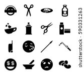 clipart icons set. set of 16