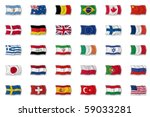 set of flags | Shutterstock . vector #59033281