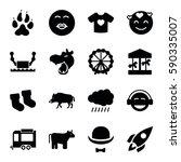 cartoon icons set. set of 16...   Shutterstock .eps vector #590335007