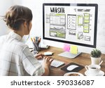 website development layout... | Shutterstock . vector #590336087