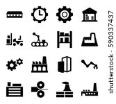 factory icons set. set of 16... | Shutterstock .eps vector #590337437