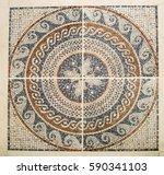 detail of the arab mosaic floor ... | Shutterstock . vector #590341103