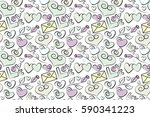 cute seamless pattern for kids  ... | Shutterstock . vector #590341223