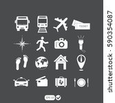 traveling and transport icons... | Shutterstock .eps vector #590354087
