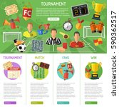 soccer infographics with flat... | Shutterstock .eps vector #590362517