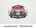 color sticker retro party.... | Shutterstock .eps vector #590363123
