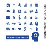 health care system icons | Shutterstock .eps vector #590372633