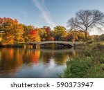 the bow bridge  is a cast iron... | Shutterstock . vector #590373947